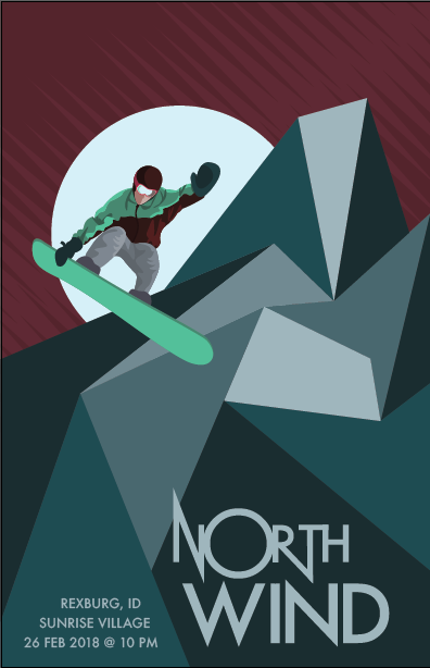 NORTH WIND GIG POSTER
