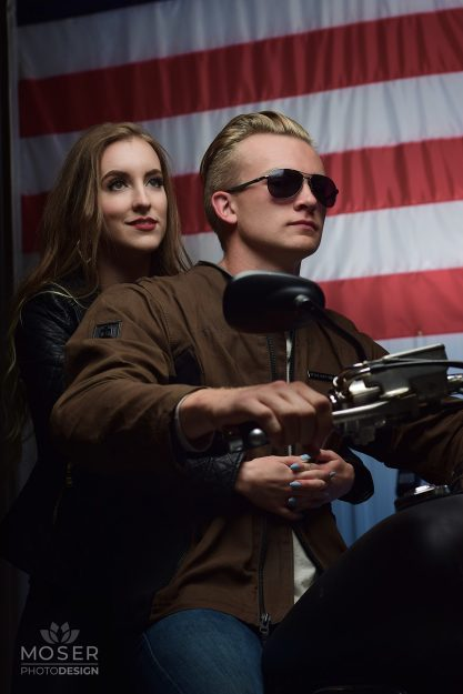 Alexis-Moser-America-in-leather-fashion-shoot-driving-forward