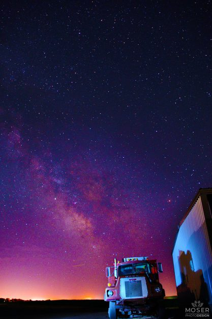 Alexis-Moser-earth-under-starry-skies-semi-truck-under-milky-way-LUTS